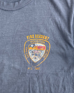 "Sun Faded Distressed ""Houston Fire Academy"" Tee"