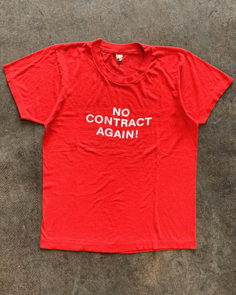 "Screen Stars ""No Contract Again"" Tee - 1980s"