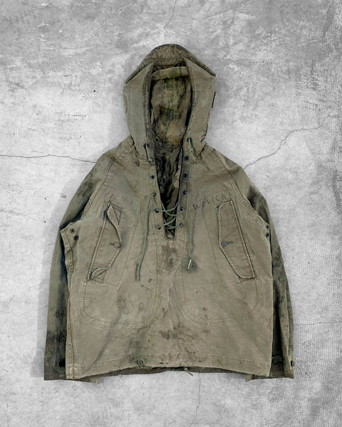 US Navy WWII Green Foul Weather Smock - 1940s