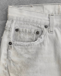 Levi's 501 Dirty White Distressed Jeans - 1990s