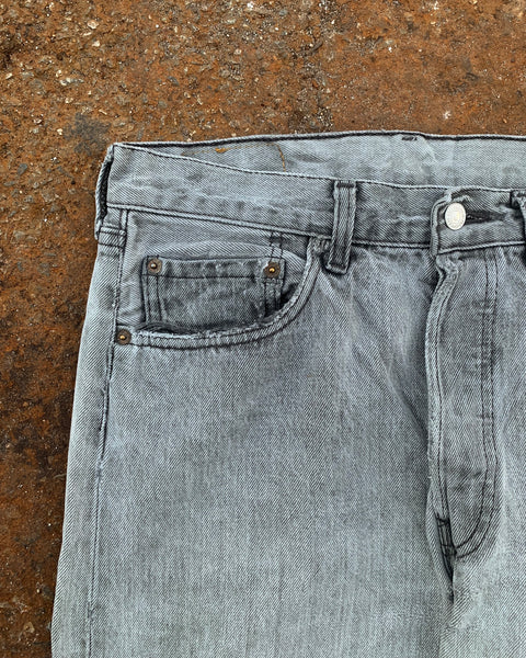Levi's 501 Faded Grey Distressed Jeans - 1980s