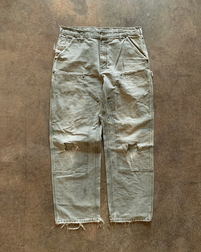 Carhartt Concrete Sage Distressed Double Knee Work Pant - 1990s