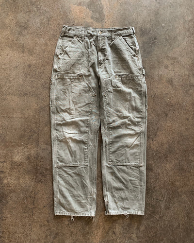 Carhartt Sage Green Distressed Double Knee Work Pant - 1990s