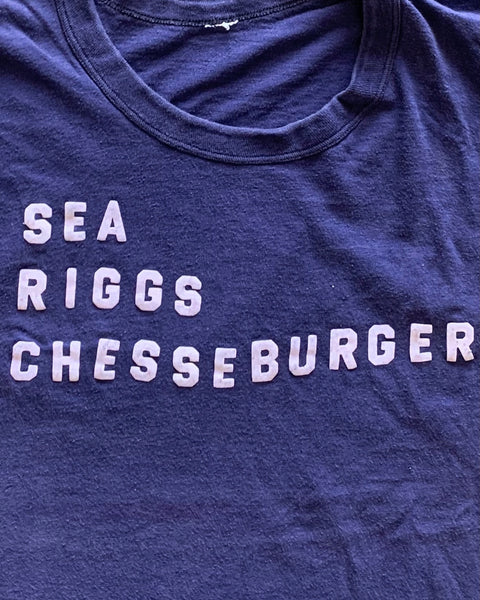 "Single Stitched ""Sea Riggs Cheeseburger"" Tee - 1990s"