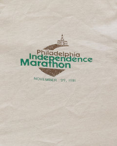 "Single Stitched ""Philadelphia Independence Marathon"" Long Sleeve Tee - 1981"