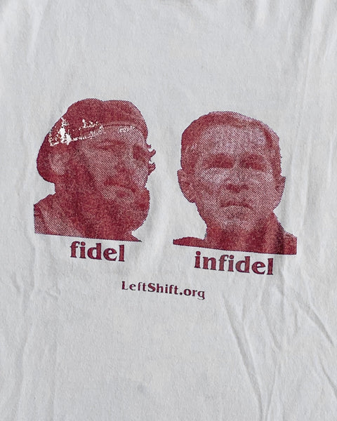 "Anti Interventionist ""Fidel Infidel"" Political Tee - 2000s"