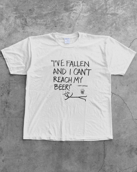 """I've Fallen and I Can't Reach My Beer"" Tee - 1990s"