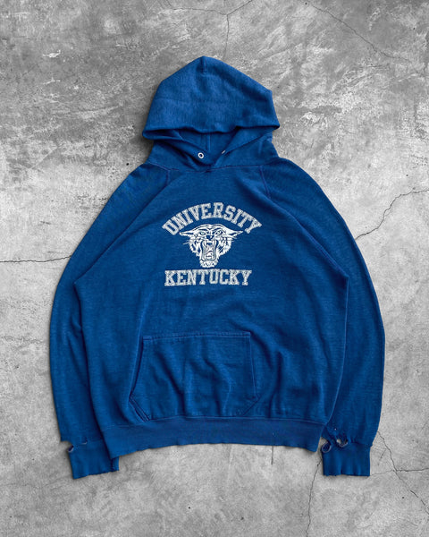 """University of Kentucky"" Raglan Hooded Sweatshirt - 1970s"