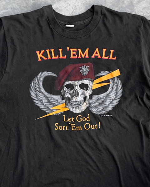 "Single Stitched ""Kill 'em All Let God Sort Out The Rest"" Tee - 1986"