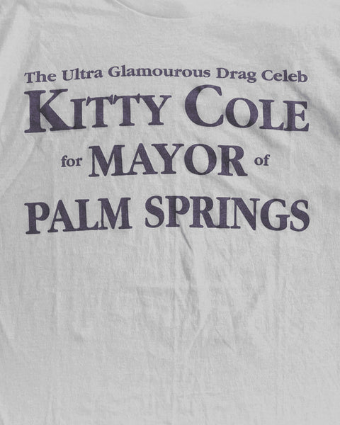 "Single Stitched ""Kitty Cole Mayor Palm Springs"" Tee - 1990s"