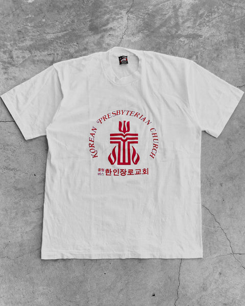 "Single Stitched Fruit Of The Loom ""Korean Presbyterian Church"" Tee - 1990s"