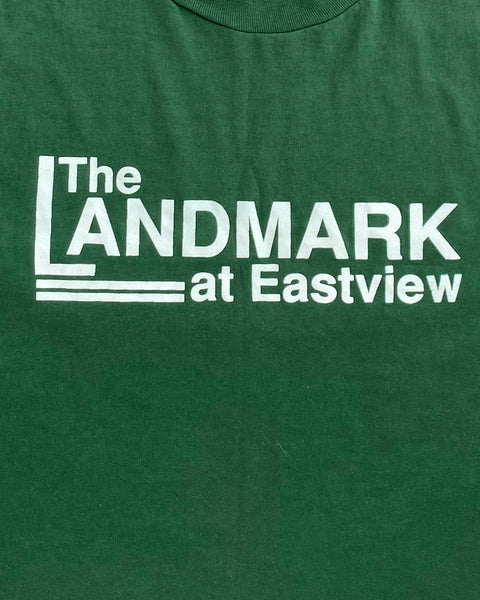 "Single Stitched Pine Green ""The Landmark"" Tee - 1990s"