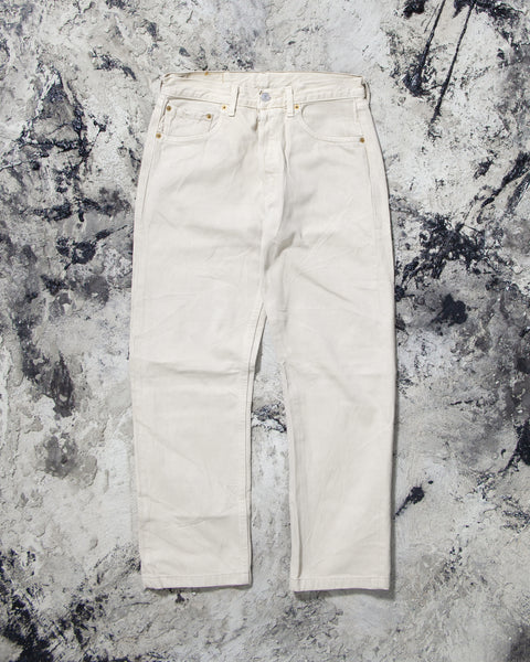 Levi's 501 Beige Cropped Jeans - 1990s