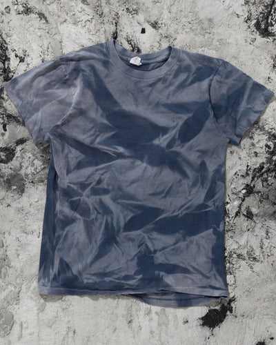 Single Stitched Sun Bleached Blue Tee - 1990s