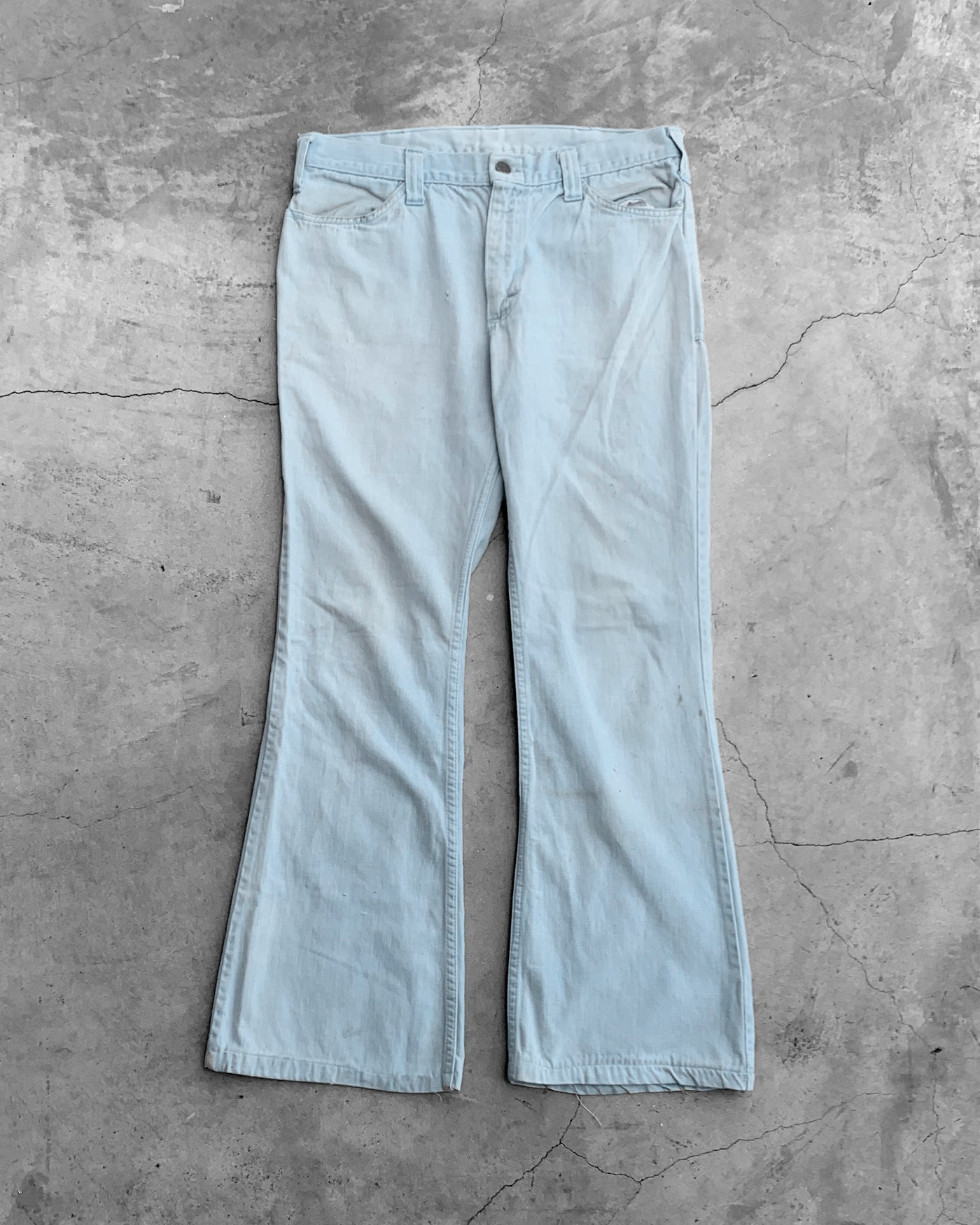 Lee Union Made Sky Blue Flared Pants - 1970s
