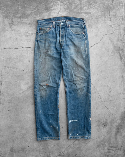 Levi's 501 Mud Wash Painted Jeans - 1990s