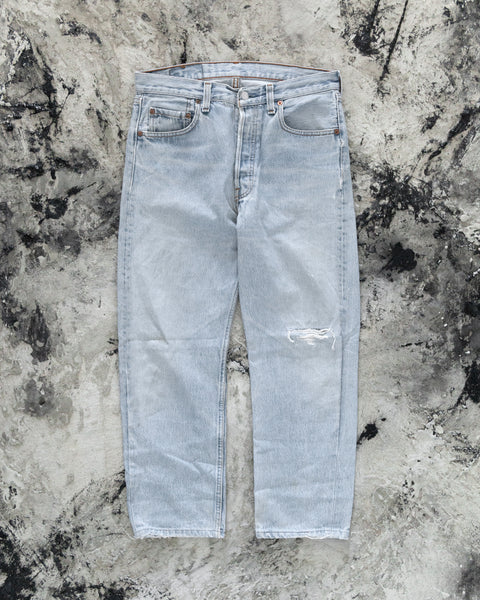 Levi's 501 Light Wash Knee Blowout Jeans - 1990s