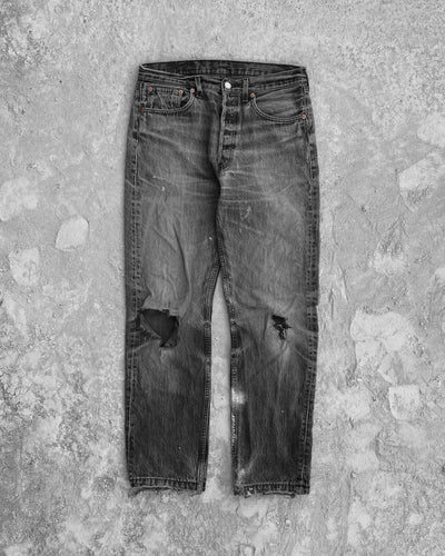 Levi's 501 Faded Distressed Jeans - 1990s