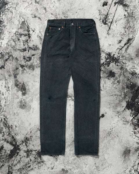 Levi's 501 Faded Dirty Wash Black Jeans - 1990s