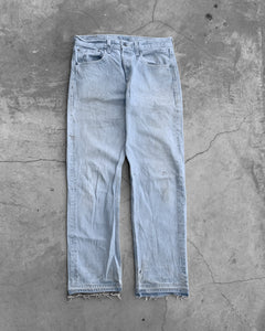 Levi's 501 Faded Blue Released Hem Jeans