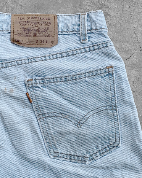 Levi's 505 Stained & Distressed Jeans - 1990s