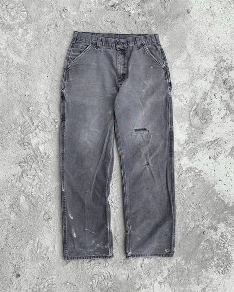Carhartt Periwinkle Distressed Double Knee Work Pant - 1990s