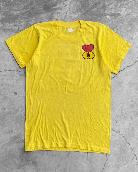 Single Stitched Heart Graphic Religious Tee - 1980s