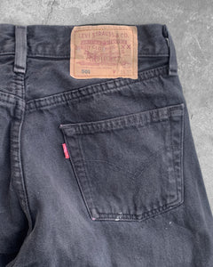 Levi's 501 Faded Black Painted Jeans - 1990s