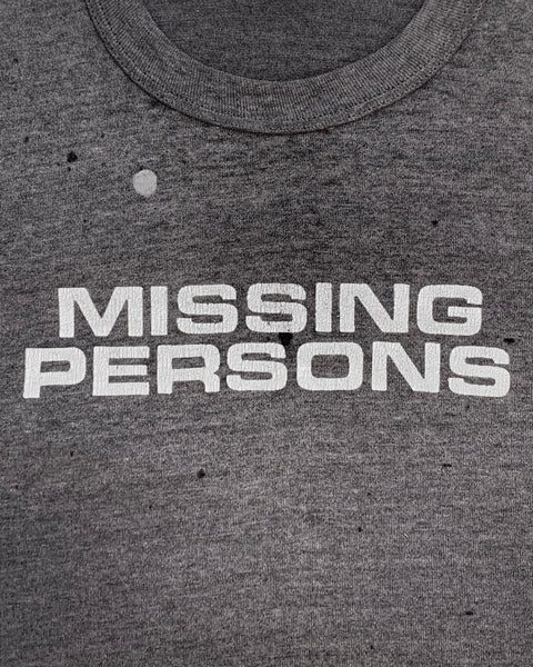 "Single Stitched ""Missing Persons"" Tee - 1980s"