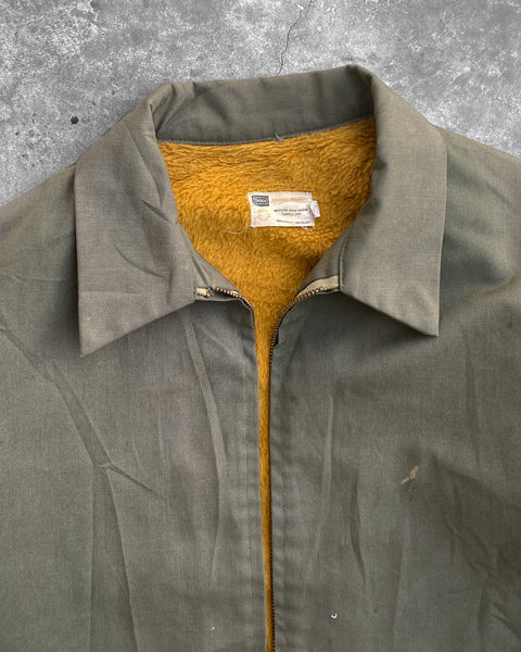 Sears Green Fleece Lined Work Jacket - 1960s