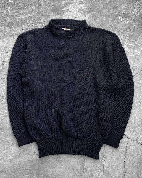 USN Navy WWII Wool Gob Sweater - 1940s