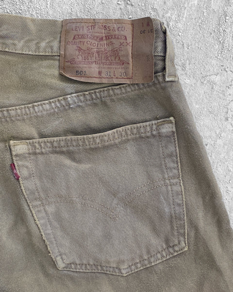 Levi's 501 Light Brown Jeans - 1990s