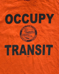 "Orange ""Occupy Transit"" Political Tee - 2000s"