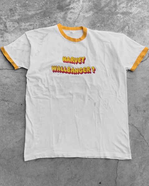 "Single Stitched ""Harvey Wallbanger"" Ringer Tee - 1980s"