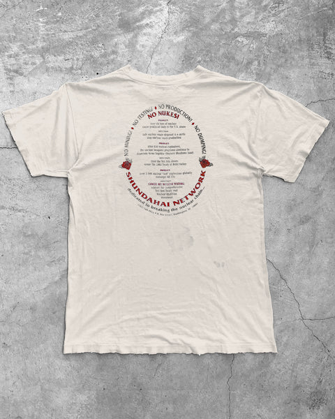 "Thrashed Single Stitched ""One Water, One Air, One Mother Earth"" Political Tee - 1990s"