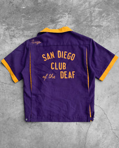 """San Diego Club of The Deaf"" Bowling Shirt - 1990s"