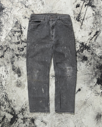 Levi's 501 Dirty Wash Grey Distressed Jeans - 1980s