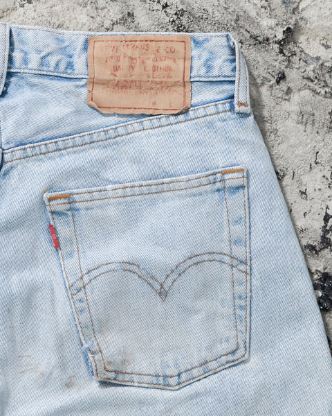 Levi's 517 Dirty Wash Painted Blue Jeans
