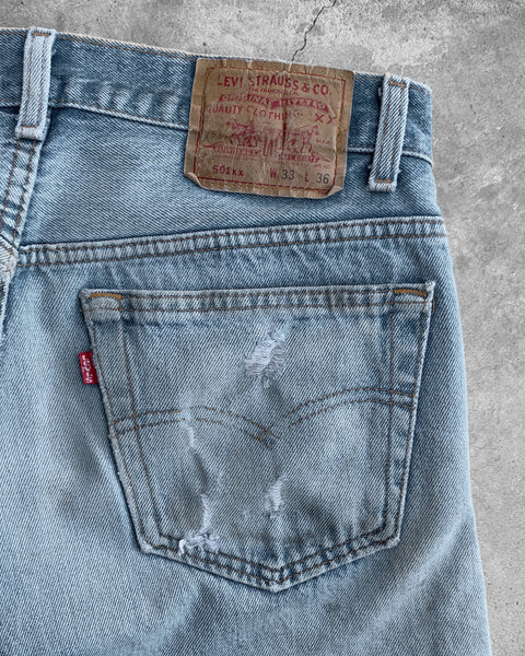 Levis 501 Patched Repaired Jeans - 1990s