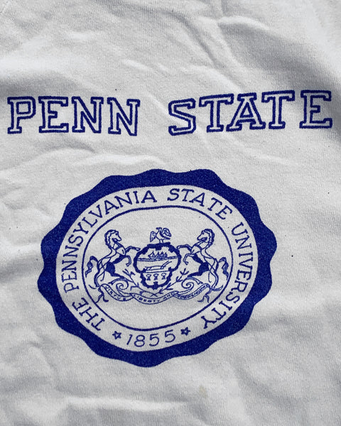 """Penn State"" Short Sleeve Raglan Sweater - 1980s"