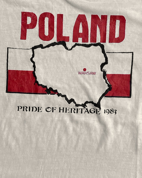 "Single Stitched ""Poland"" Ringer Tee- 1970s"