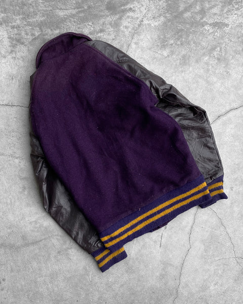 "Purple ""Scorer"" Varsity Jacket - 1980s"