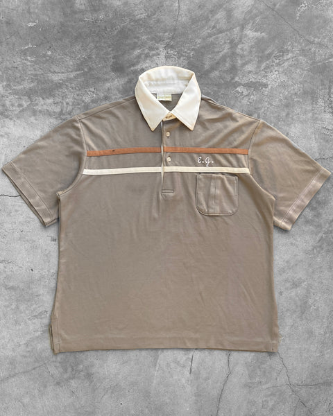 "Taupe ""Radde Paint"" Chainstitch Polo - 1980s"