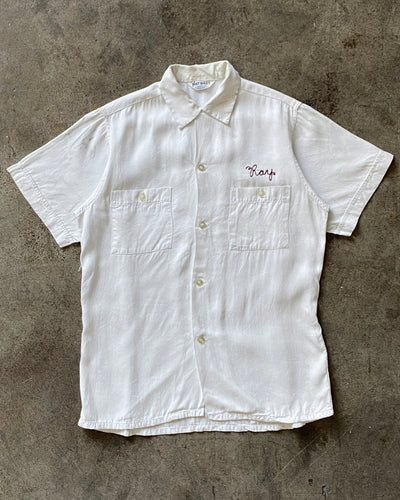 Ray Embroidered Camp Collar Shirt - 1960s