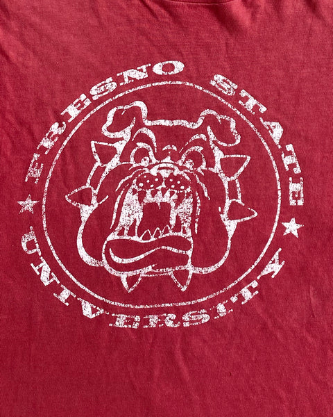 "Single Stitched Distressed ""Fresno State"" Bulldogs Tee - 1990s"
