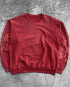 Red Bleach Stained Sweatshirt - 1980s