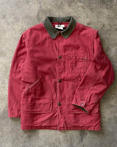L.L. Bean Red Canvas Chore Jacket - 1990s