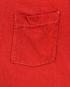 Single Stitched Scarlet Selvedge Pocket Tee - 1990s