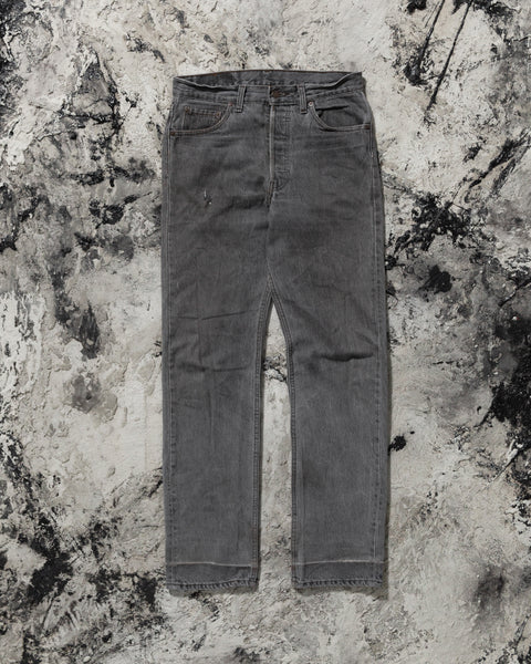 Levi's 501 Distressed Grey Jeans - 1980s