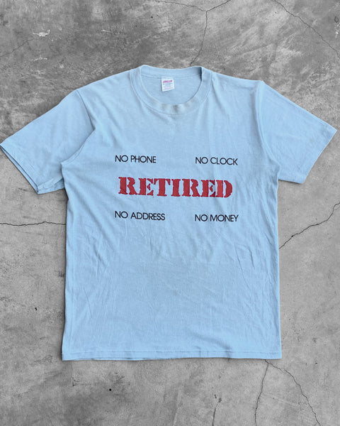 "Jerzees Single Stitched ""Retired"" Tee - 1980s"